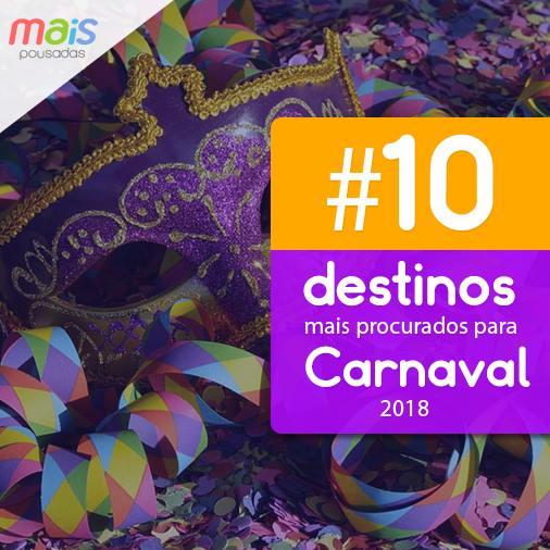 Pousadas para Carnaval 2018